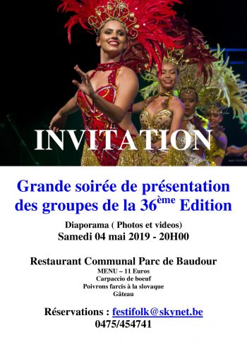 Invitation soirée 2019